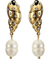 Kate Spade New York - Under The Sea Pave Tulip Shell Drop Earrings