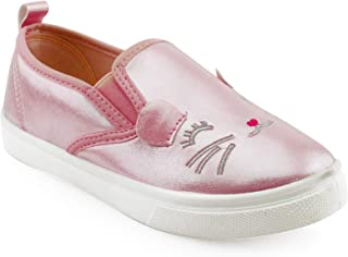 Girls Slip On Casual Shoes Sneaker with Kitten Face