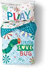 Jay Franco The Very Hungry Caterpillar 4 Piece Toddler Bed Set – Super Soft Microfiber Bed Set Includes Toddler Size Comforter & Sheet Set (Official Eric Carle Product)