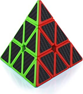 Maomaoyu Pyraminx Cube 3x3 3x3x3 Speed Cube Pyramide Triangle Magique Puzzle Twist Magic Cube Fibre de Carbone Autocollant...