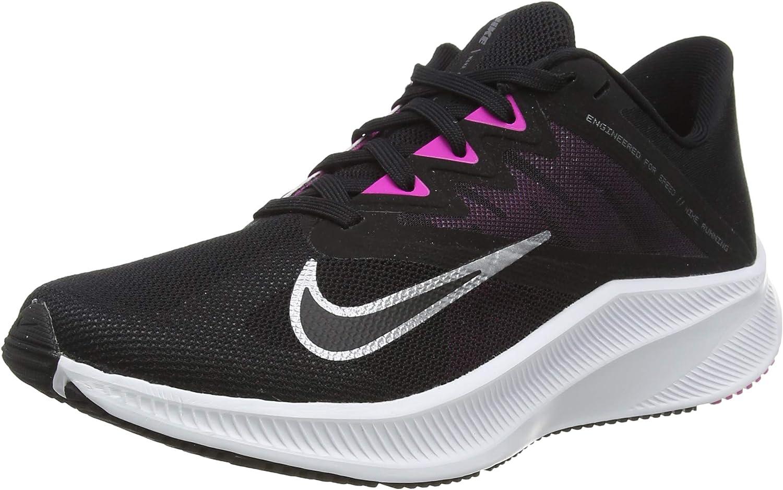 Nike Women's Quest 3 Running Black Shoe Ranking TOP16 Grey service Dark Smoke