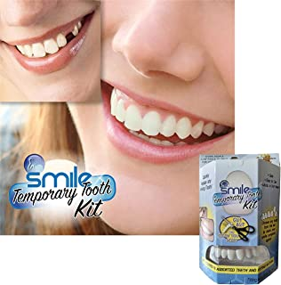 Timall Temporary Teeth Set,Denture Care,Cosmetic Teeth, Snap On Smile, Braces