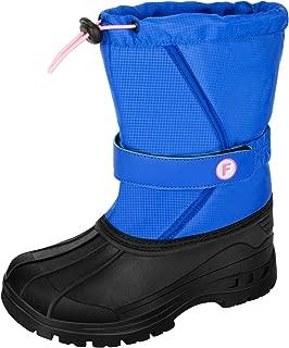 IKENIP Womens Snow Boots Kids Lightweight Warm Outdoor Waterproof Cold Weather Winter Shoes for Boy and Girl(Little Kid/Big Kid)