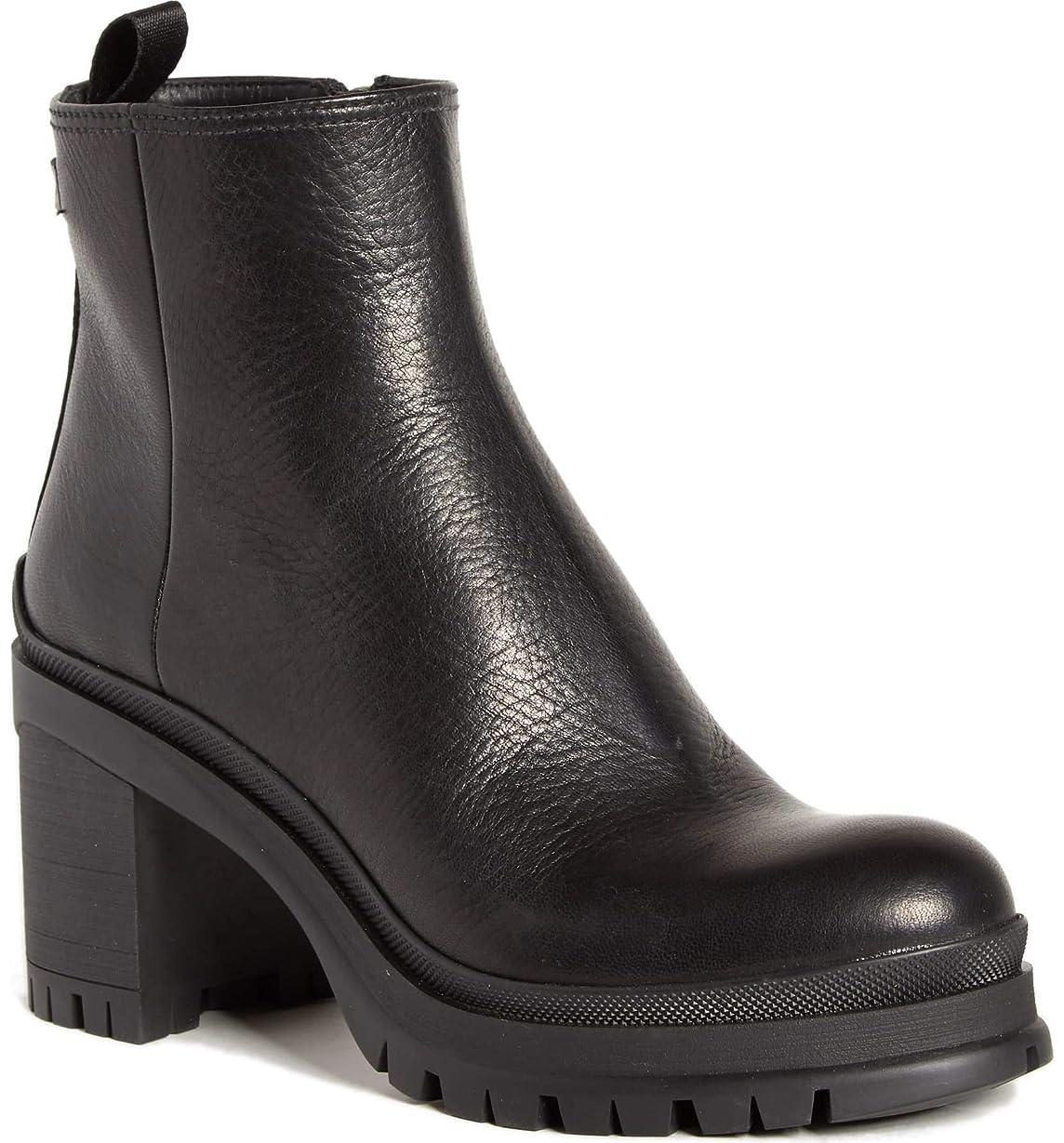 無謀ビジターピュー[プラダ] レディース ブーツ&レインブーツ Lug Sole Leather Bootie (Women) [並行輸入品]