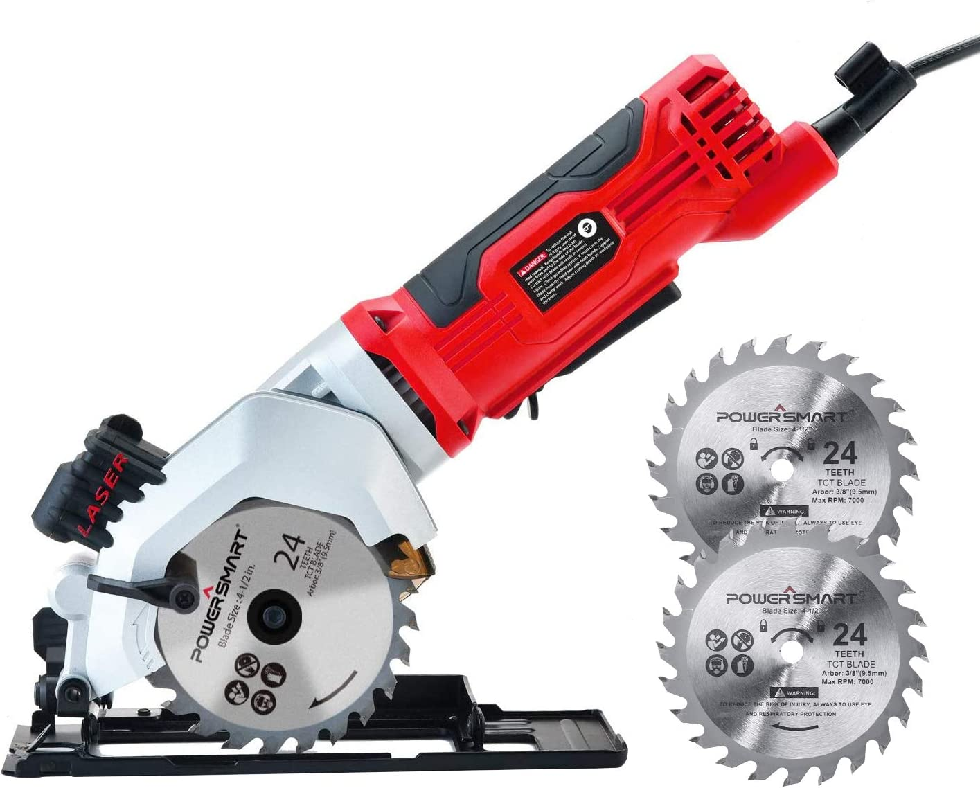 PowerSmart New Shipping Free Circular Saw 24T 4-1 Popular product 4Amp 3 Electric 2