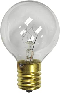 G40 Replacement Globe Light Bulb, E17 Base (Intermediate), Clear, 7 Watts, Pack of 25