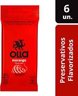 Preservativo Camisinha Olla Sabor Morango - 6 Unidades