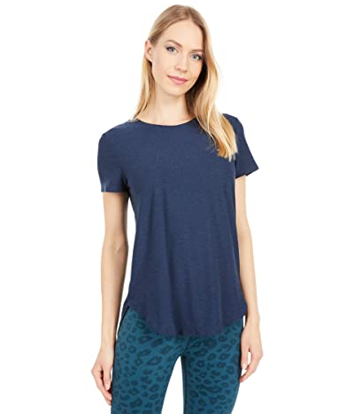Beyond Yoga Lightweight Spacedye On the Down Low Tee (Nocturnal Navy) Women