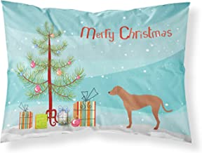 Caroline's Treasures Rhodesian Ridgeback Christmas Printed, Polyester Envelope Closure pillowcase, Standard, Multicolor