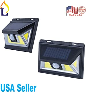 8 Pack Dusk to Dawn Outdoor Led 10W Solar Human Motion Detectiong Wall Pack Light Water-Proof IP65 Security Area Door Lamp