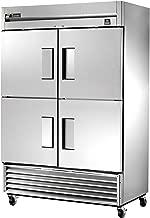 True Reach-In 4-Half Solid Swing Door 49 Cu Ft Freezer