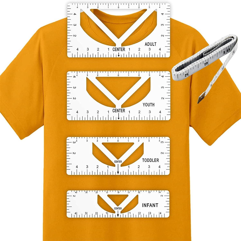 5 Pack Direct store V-Neck T-Shirt Ruler - Tshirt Sale item Tape Measuring