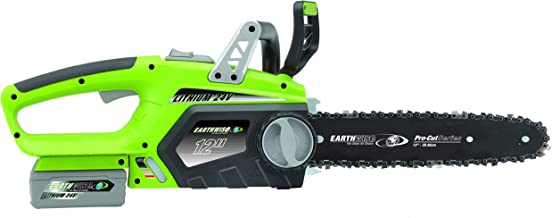 Earthwise LCS32412 12-Inch 24-Volt Lithium Ion Cordless Electric Chain Saw (Renewed)