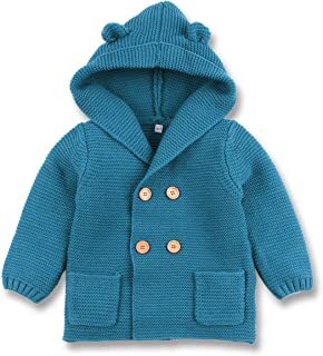 Infants Light Puffer Jacket Lining Cotton Thick Outerwear Hooded Coat for Baby Boys Girls Toddlers CHRONSTYLE Winter Coats for Kids with Hoods Padded