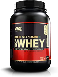 Optimum Nutrition (ON) Gold Standard 100% Whey Protein Powder - 2 lbs, 907 g (Cookies & Cream)