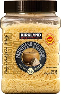 Kirkland Signature Aged Parmigiano Reggiano Cheese, Shredded, 1 lb