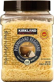 Kirkland Signature Aged Parmigiano Reggiano Cheese, Shredded, 1 lb (2 Pack)