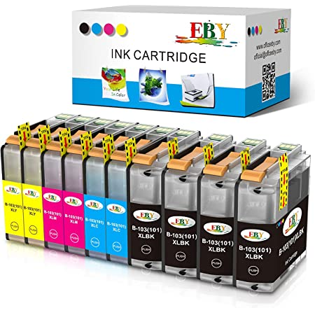 EBY Compatible Ink Cartridge Replacement Brother LC-103XL LC103XL LC103 XL MFC-J870DW MFC-J450DW J470DW J6720DW J4510DW J4710DW J475DW J285DW Printer (4 Black,2 Cyan,2 Magenta,2 Yellow, 10-Pack)