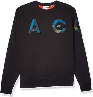 Mens Sport Long Sleeve Camo Letters Crewneck Sweatshirt
