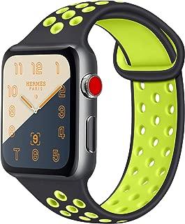 ATUP コンパチブル Apple Watch バンド 42mm 38mm 44mm 40mm、ソフトシリコン交換用リストバンド iWatch series 5/4/3/2/1に対応、iWatchは含まれていません