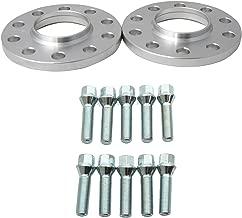 12mm (0.5 inch) Hubcentric Wheel Spacers (5x120 72.6) with Silver 12x1.5 Lug Bolts for BMW 128i 135i 318i 320i 325i 328i 335i M3 E60 525i 528i 530i 535i M5 Z3 Z4 E36 E46 E90 E92 E93
