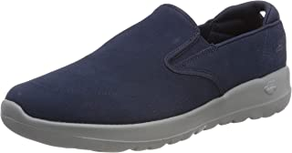 Skechers Go Joy Predict Womens Suede Slip on Walking Shoes