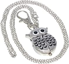 Silver Vintage Antique Case Pocket Watch Fob Watch for Men Women Girls Boys Gifting Occasion with 1 PC Necklace Chain 1 PC Clip Key Rib Chain