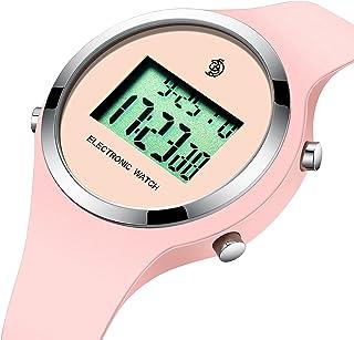 Montre Enfant Garcon Fille Adolescent Sport Digitale Mode Montre Multifonction Chronographe Montre LED avec Lumière/Alarme...