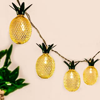 GIGALUMI Pineapple String Lights, 10ft 10 LED Fairy String Lights Battery Operated for Christmas Home Wedding Party Bedroo...