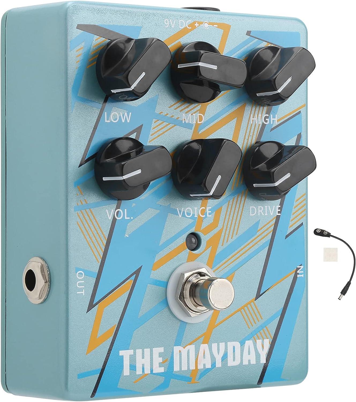 Pedal amplificador de guitarra, amplificador de pedal de efecto, ecualizador de efecto de sonido analógico, accesorios de guitarra armónica DC 9V