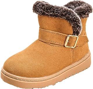 Baulody Baby Boys Girls Christmas Deer Cartoon Soft Sole Bow Warm Winter Infant Prewalker Toddler Snow Boots