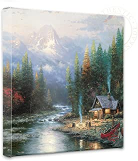 Thomas Kinkade - End of a Perfect Day II Open Edition Wrapped Canvas