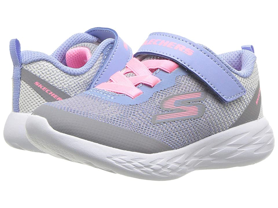 SKECHERS KIDS Go Run 600 (Toddler) (Grey/Multi) Girl