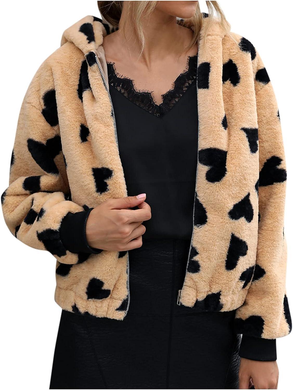 Women's Hooded Coat, Warm Winter Hoodies Fleece Jackets Long Sleeve Casual Zip Up Turn-down Solid Coat With Pocket