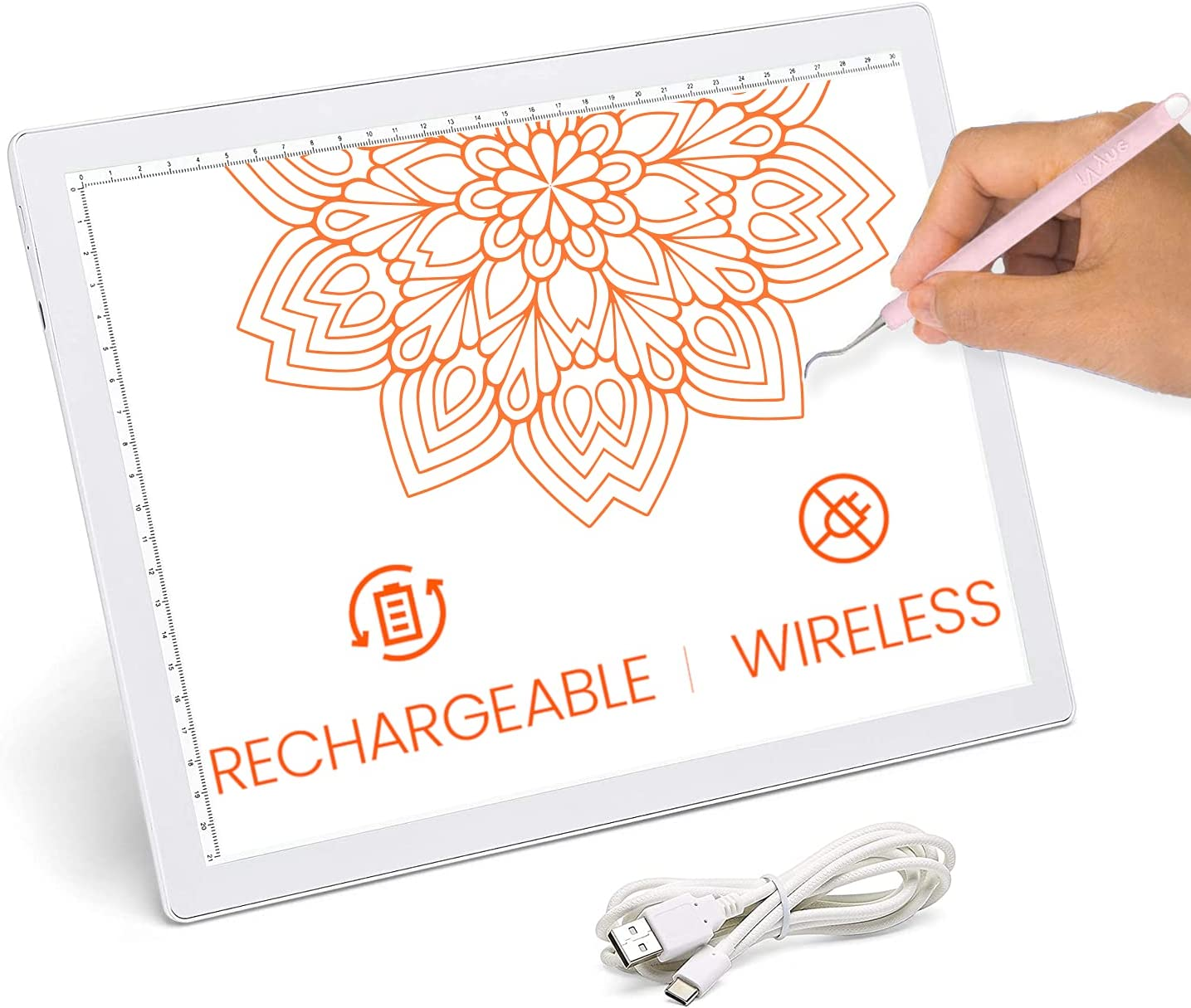 iVyne Rechargeable Led Minneapolis Mall Bright Ultra-Thin by Light Free shipping Pad Powered A4