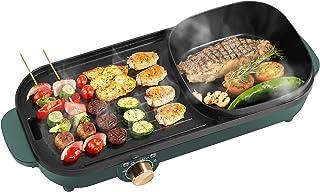 Uten Hot Pot Barbecue Pot Gril électrique Multifonctionnel Pot Shabu Pot 2 en 1 Poêle à frire antiadhésive sans fumée ménage