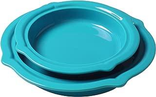 Chantal 2-Piece Talavera Pie Set, Sea Blue