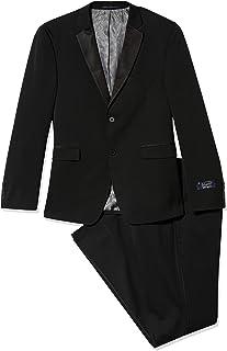 Men's Solid Black Slim Fit Tuxedo
