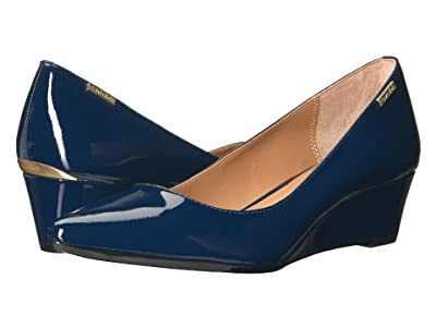 Calvin Klein Germina Wedge (Navy Patent) Women