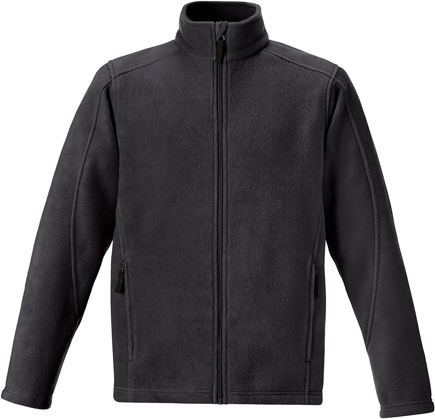 North End Journey Core 365 Tall Mens Fleece Jacket (Charcoal Grey 3X-T)