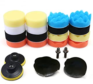 Car Waxer Polisher Buffer Pads,Aolvo Car Polish Set Car Foam Drill Polishing Pad Kit 22 PCS for Auto Car Sanding, Buffing,...