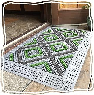 JIAJUAN Heavy Duty Outdoor Doormat Home Business Easy Splicing Strong Wear Resistant Shoes Scraper Entryway Door Mat (Colo...