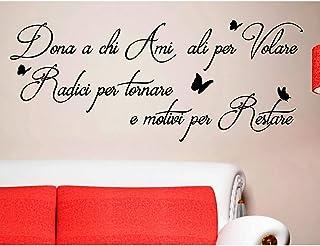 ADESIVI MURALI FRASI DONA A CHI AMI ALI PER VOLARE MOTIVI PER RESTARE CITAZIONI Wall Stickers Adesivo Murale Frase Citazio...
