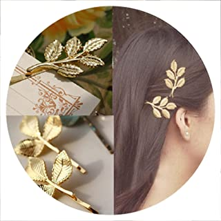 New Woman Bride Metal Leaf Hair Clips Pearl Hairpin Beautiful And Elegant Girls barrettes Hair Accessories Fashion Two Type,3 leaf