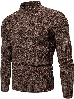 IFOUNDYOU Men's Long Sleeve T-Shirt Warm Roll Neck Lining Fleece Sweatshirts Thermal Top Warm Knit Turtleneck Sweater for ...