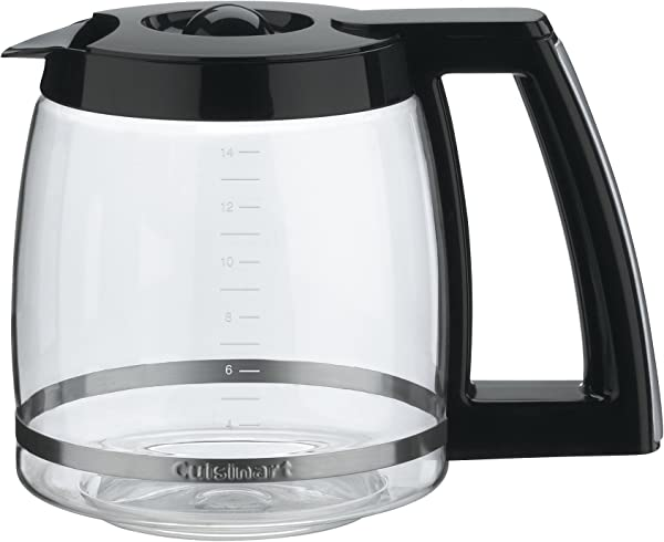 Cuisinart DCC 2200RC 14 Cup Replacement Glass Carafe Black