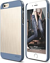 iPhone 6S Case, elago S6 Outfit Matrix Aluminum and Polycarbonate Dual Case for the iPhone 6/6S (4.7inch) + HD Professional Screen Film included - Full Retail Packaging (Royal Blue/Champagne Gold)