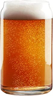 Nucleated 16oz Can Glass - More Head, More Flavor, Better Beer!