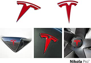 f8f172d66e957 Nikola Pro Tesla Model 3 Logo Decal Wrap Kit (Gloss Red)