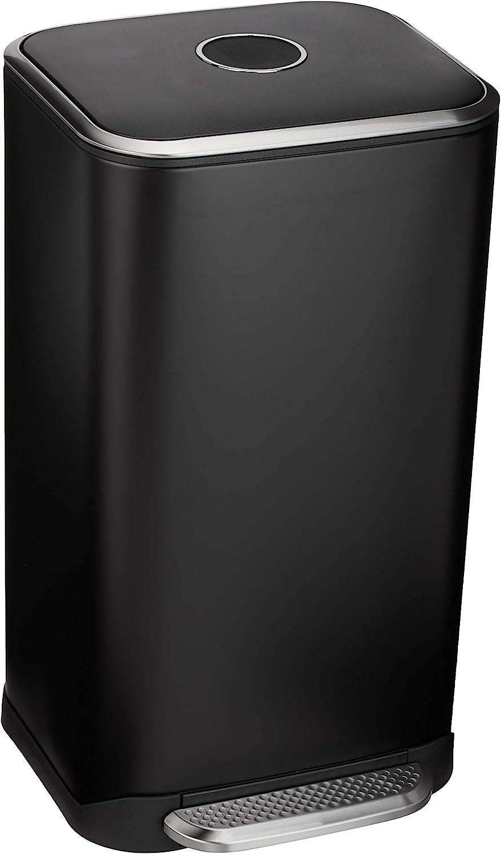 Amazon Under blast sales Basics 32 Liter 8.5 Under blast sales Gallon Metal Soft-Close Can w Trash